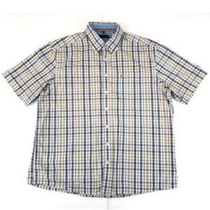 PAUL R SMITH Men's Shirt Plaid Casual Button Front